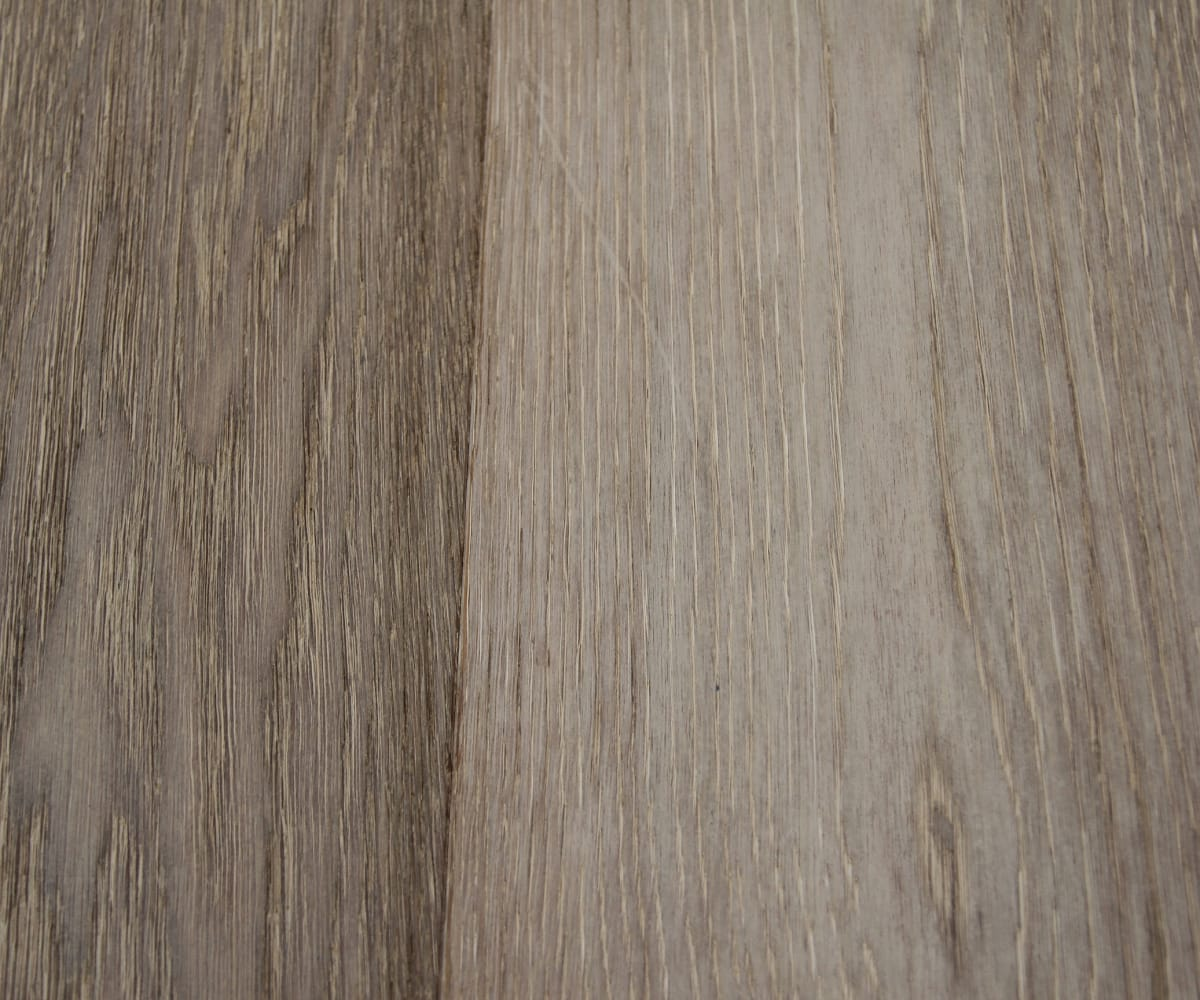 Oban Oak Brushed Pearl Grey Stained Dual-Width Engineered Hardwood Flooring