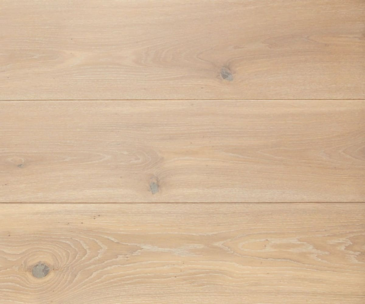 Blanco Brushed Oak Hardwax Oiled Wide Board Engineered Hardwood Flooring
