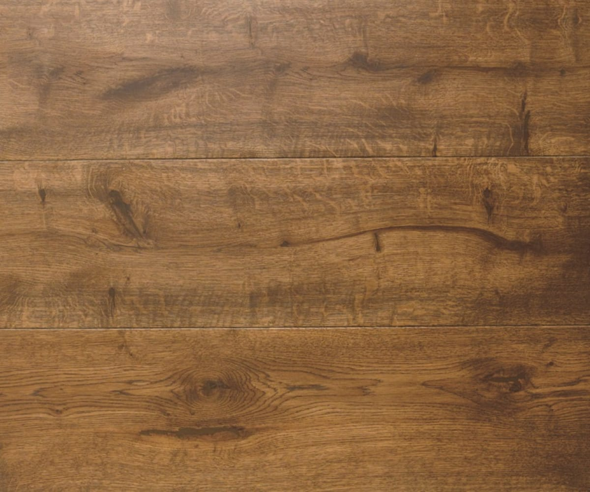 African Walnut Brown Oak Hardwax Oiled Engineered Hardwood Flooring