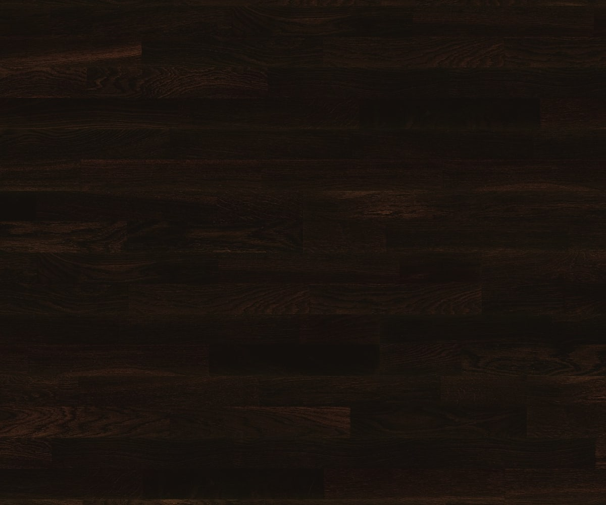 3 Strip Black Stained Oak Lacquered Engineered Hardwood Flooring