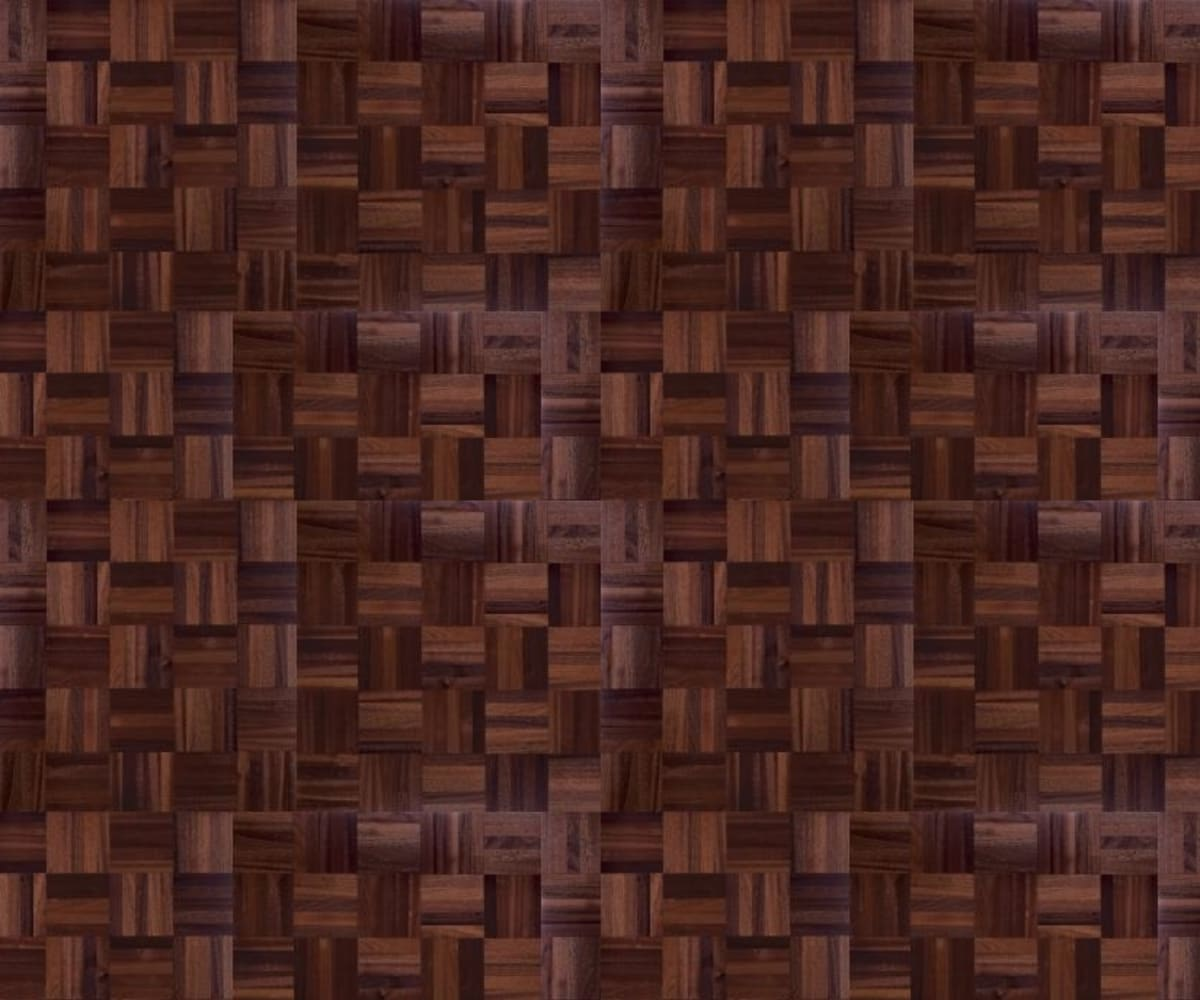 American Black Walnut 5 Finger Mosaic Parquet