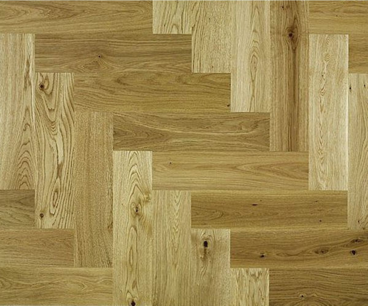 Rustic Oak 350mm Herringbone Parquet Engineered Block