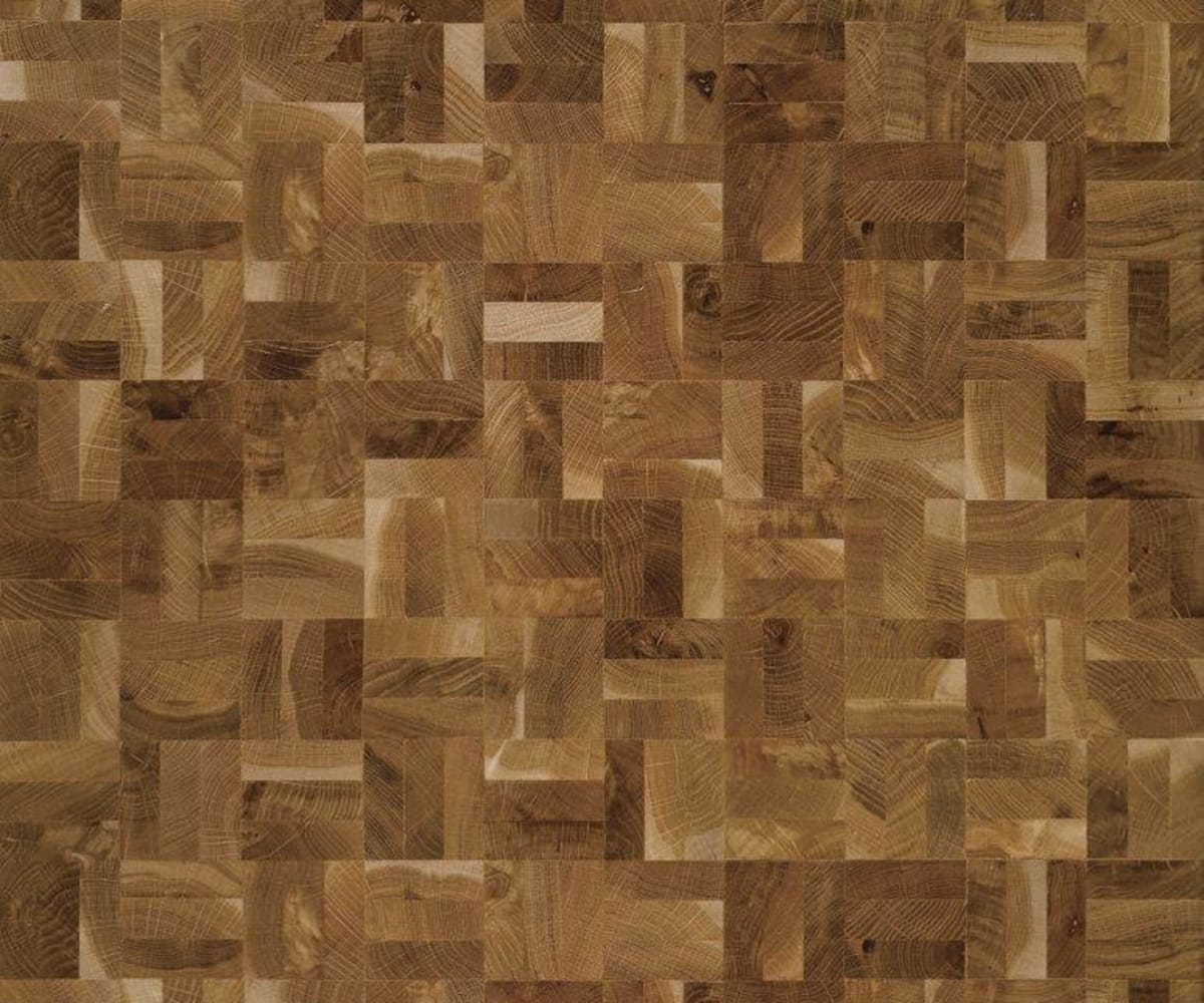End Grain Oak Rustic 3 Block Mosaic Parquet Flooring