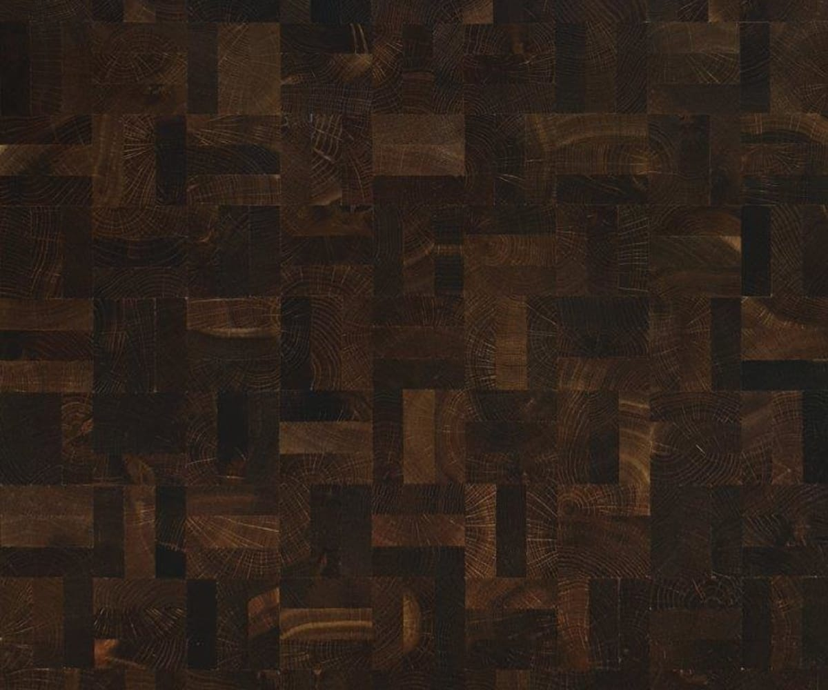 End Grain Oak Nature Fumed 3 Block Mosaic Parquet Flooring