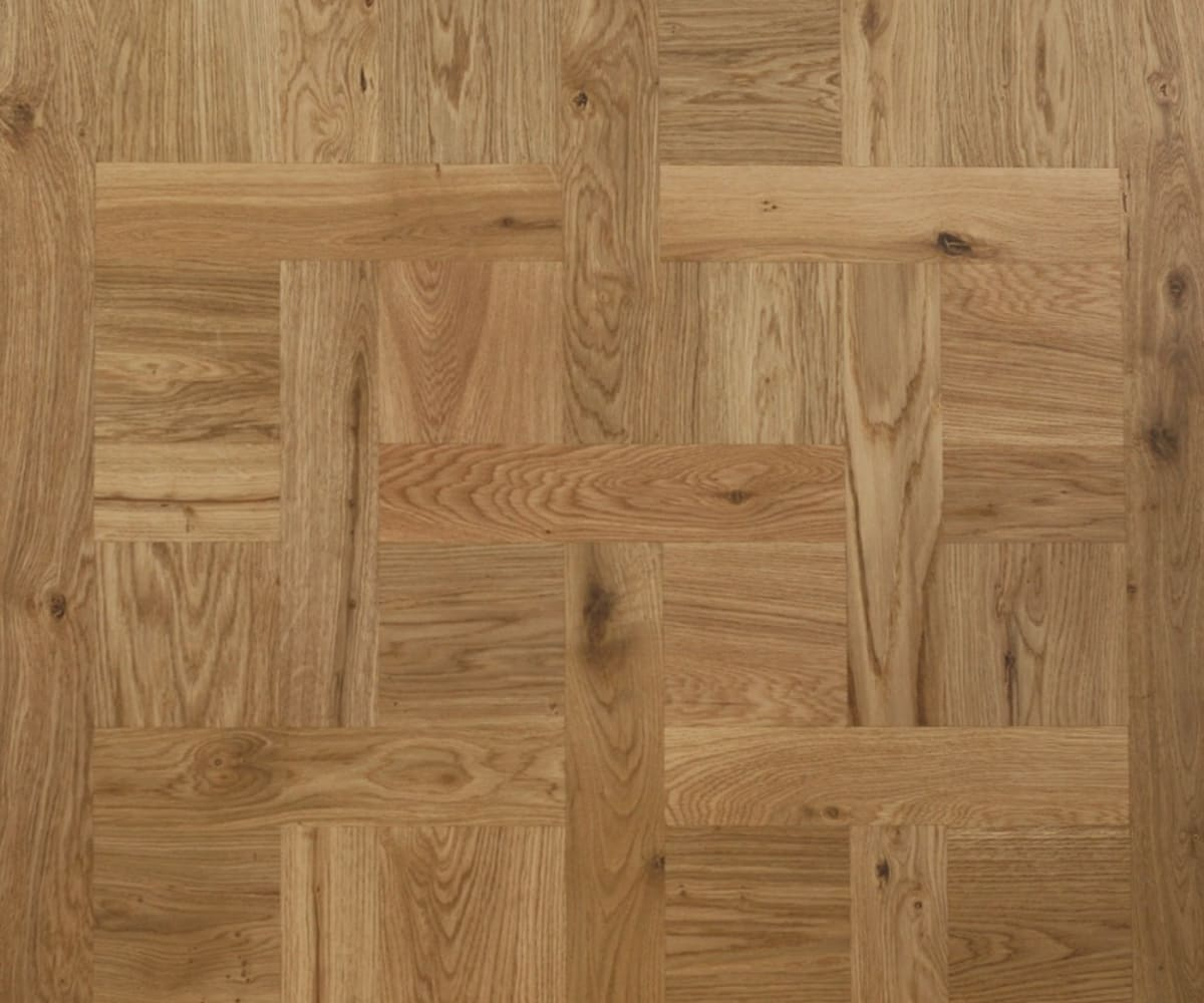 Chantilly Mosaic Design Oak Panel Parquet Flooring