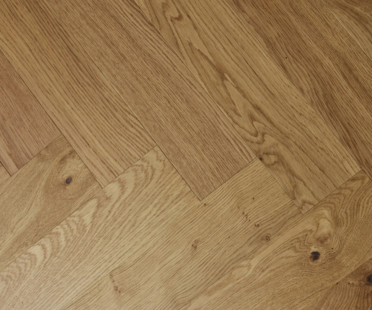Natural Oak Oiled Herringbone Engineered Parquet Block