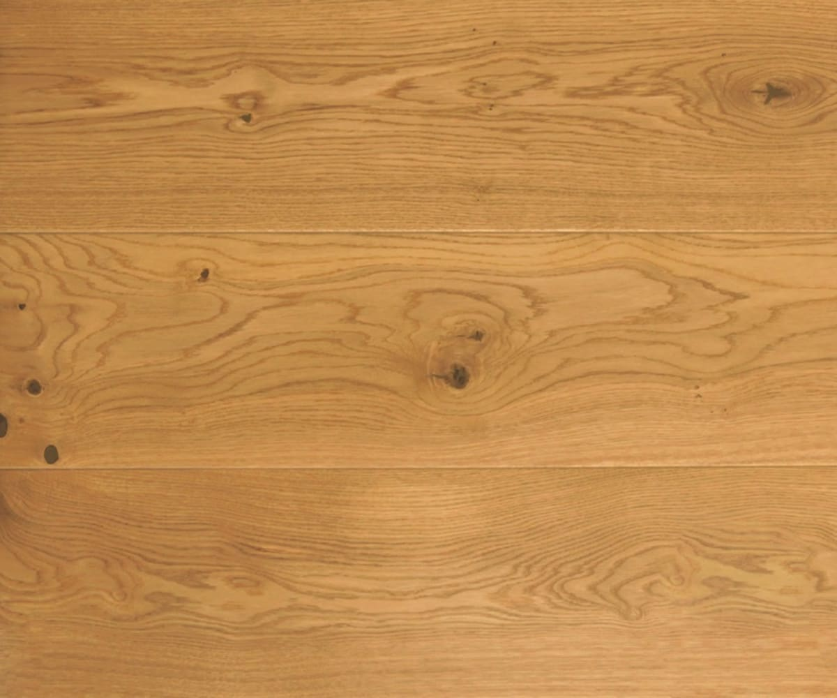 Rustic Oak Natural Lacquered Hardwood Engineered Wood Flooring