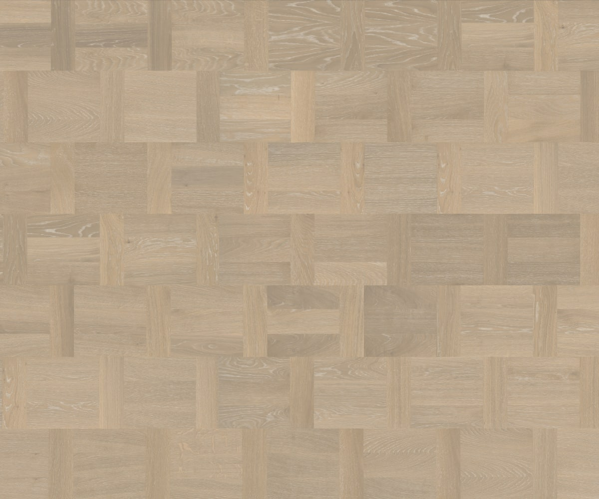 Blanc Oak Dutch Patterned Parquet Flooring