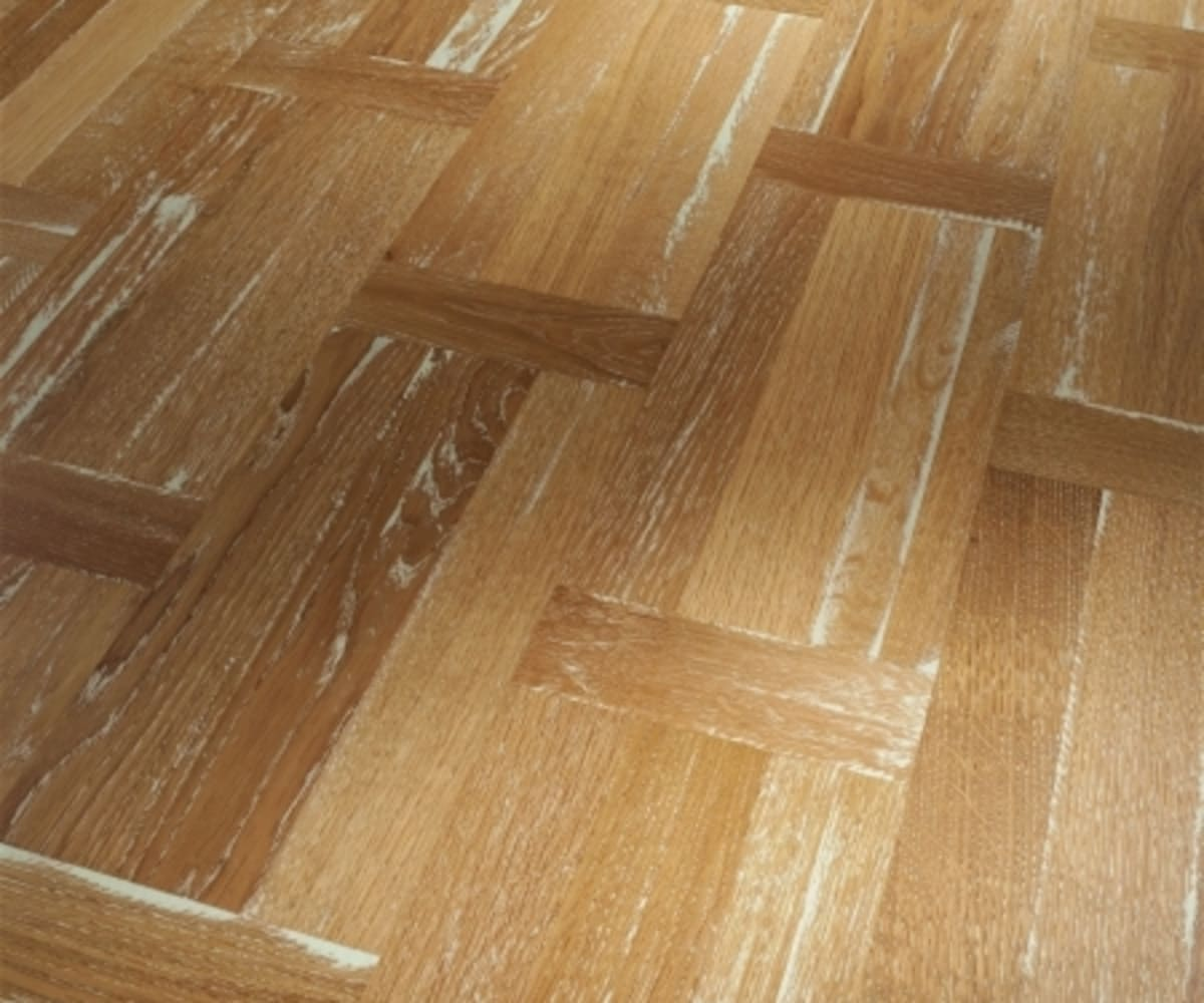 Dutch Basket Weave White Vintage Oak Oiled Parquet Flooring
