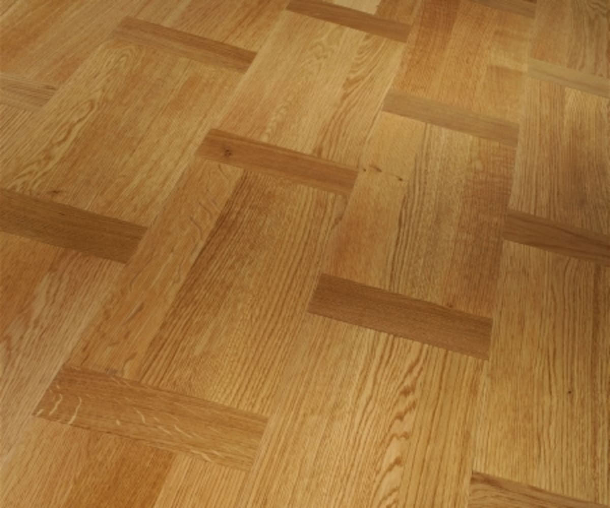 Dutch Basket Weave Natural Oak Oiled Parquet Flooring