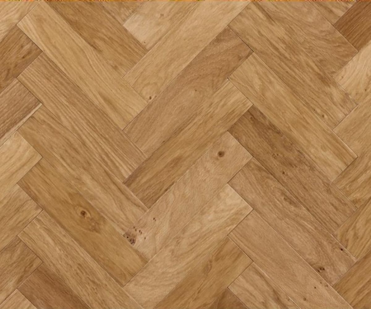 Herringbone 280mm Oak Herringbone Engineered Unfinished Parquet Flooring