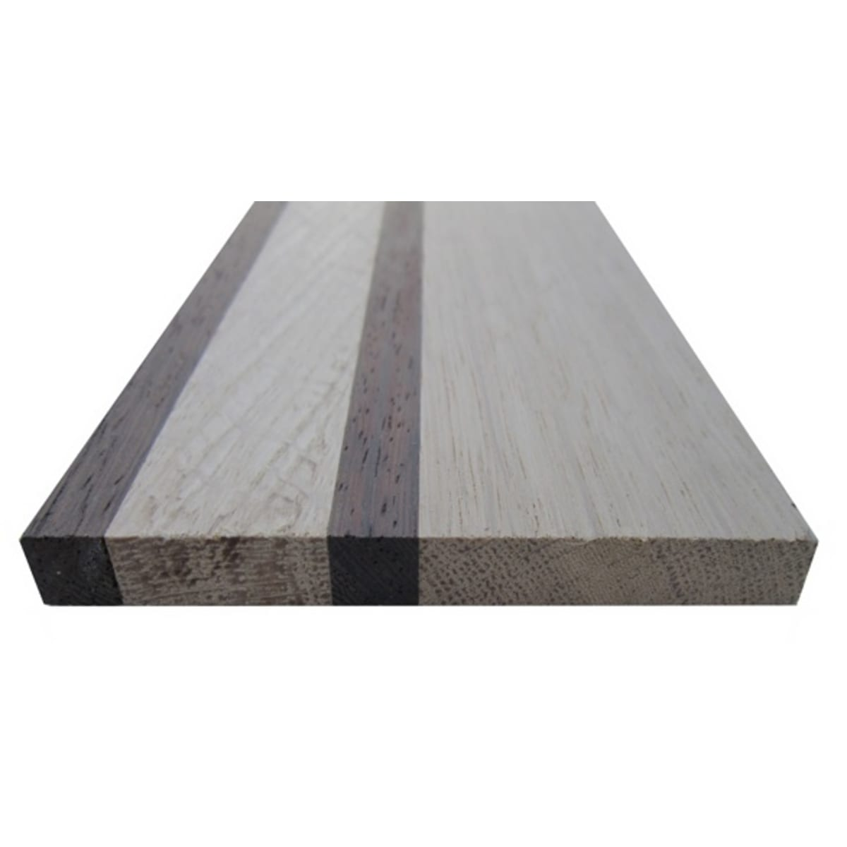 The Finishing Touch Floors: Double Wenge & 2 Strip Oak 90mm Solid Parquet Border Strip