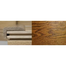 Honey Oak Stair Nose Profile Soild Hardwood 1m