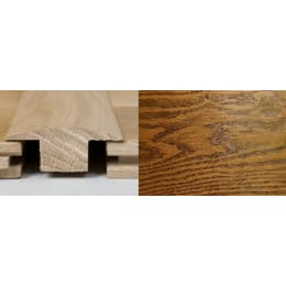 Coffee Oak T-Bar Profile Soild Hardwood 2m