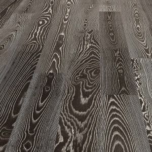 Burnt Umber Stained Ash Brushed Oiled Engineered Hardwood Flooring