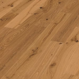 Kingston Oak Extra Rustic Brushed & Natural Oiled Wide Board Engineered Hardwood Flooring