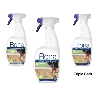 Bona Wood Floor Cleaning Spray TRIPLE PACK