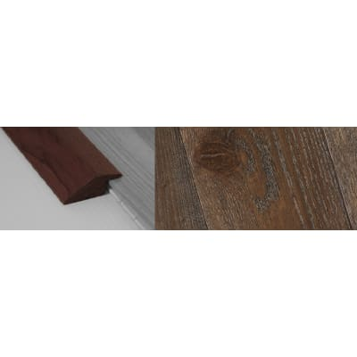 Dark Grey Stained Ramp Bar Flooring Profile 15mm Rebate Soild Hardwood 2.7m