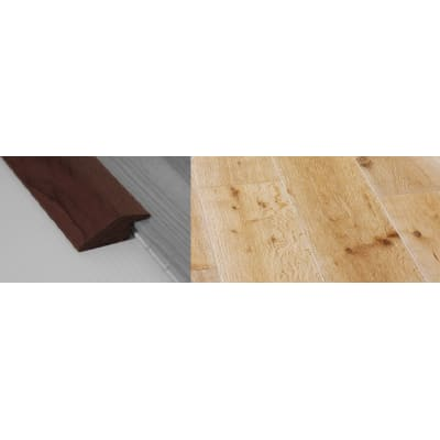 White Wash Stained Solid Oak Ramp Bar Flooring Profile 15mm Rebate 2.7m