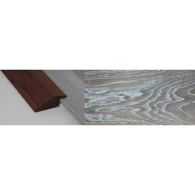Silver Haze Stained Solid Oak Ramp Bar Flooring Profile 15mm Rebate 2.7m