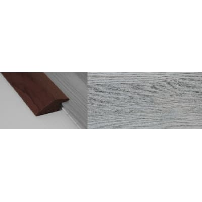 Smokehouse Grey Stained Solid Oak Ramp Bar Flooring Profile 15mm Rebate 2.7m