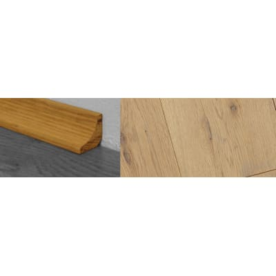 Grey Wash Stained Solid Hardwood Oak Scotia 2.7m for Flooring