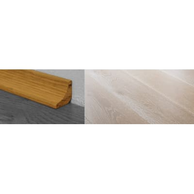 Titanium White Stained Solid Oak Scotia 2.7m for Flooring