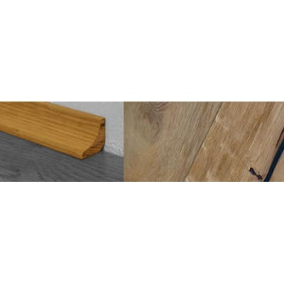 Weathered Oak Beam Stained Solid Oak Scotia 2.7m for Flooring