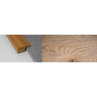 Frozen Umber Stained Solid Oak Square Edge Flooring Profile 15mm 2.7m