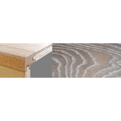 Nordic Beech Stained 15mm Oak Stair Nosing Profile Soild Hardwood 2.7m
