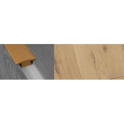Grey Wash Solid Oak T-Bar Profile Soild Hardwood 15mm Rebate Solid 2.7m