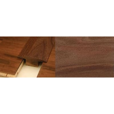 Walnut T-Bar Profile Soild Hardwood 15mm Rebate 0.9m
