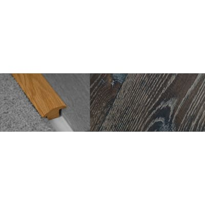 Foundry Stained Wood to Carpet Profile Soild Hardwood 15mm Rebate 2.7m