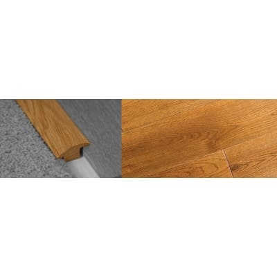 Golden Rustic Stained Wood to Carpet Profile Soild Hardwood 18mm Rebate 2.7m