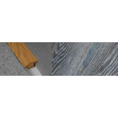 Grey Wharf Stained Wood to Carpet Profile Soild Hardwood 15mm Rebate 2.7m