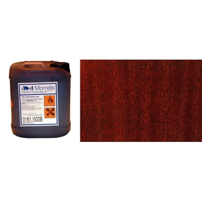 Morrells Light Fast Stain 5L New Rosewood Wood Flooring Stain 0181/500 (1L=8m2 per coat)