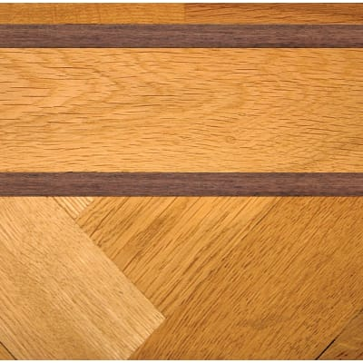 Double Walnut & Oak Parquet Solid 43mm Inset Strip