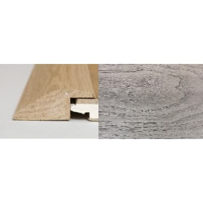 Mushroom Grey Stained Soild Oak Ramp Bar Flooring Profile 3m