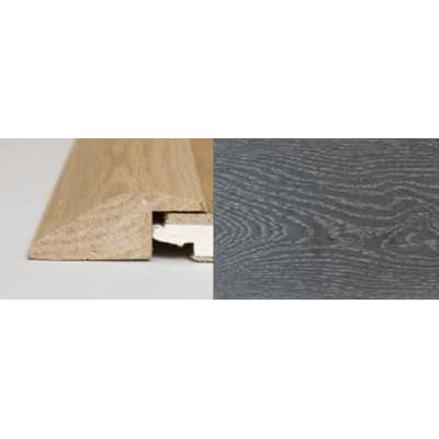 Silver Grey Stained Soild Oak Ramp Bar Flooring Profile  3m