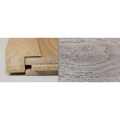 Mushroom Grey Stained Square Edge Solid Hardwood Flooring Profile 2m