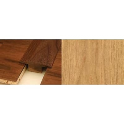 Oak T-Bar Profile Soild Hardwood 15mm Rebate 2.44m