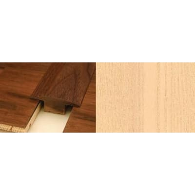 Beech T-Bar Profile Soild Hardwood 15mm Rebate 2.44m