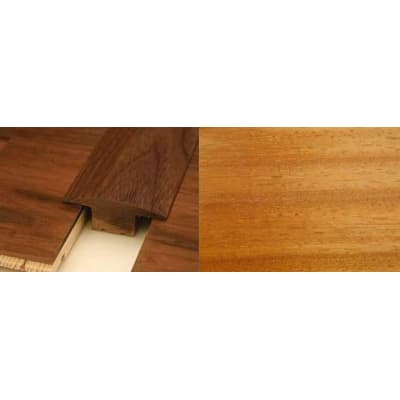 Iroko T-Bar Profile Soild Hardwood 15mm Rebate 2.44m