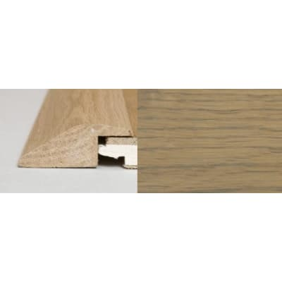 Rustic Grey Stained Soild Oak Ramp Bar Flooring Profile  3m