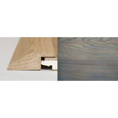 Titanium Grey Stained Soild Oak Ramp Bar Flooring Profile 1m