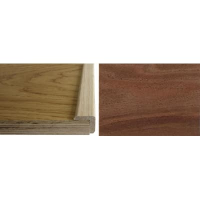 Walnut Solid Hardwood  24mm L-Quadrant 2.7m for Flooring
