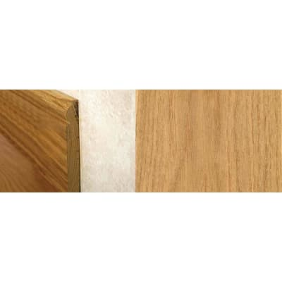 Natural Oak Torus Solid Hardwood Skirting 2.4m for Flooring