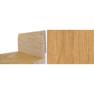 Solid Oak Lacquered 90mm Pencil-Wire Recess Skirting 2.4m for Flooring