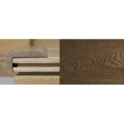 Smoked Oak Multi Stair Nosing Profile Soild Hardwood 3m