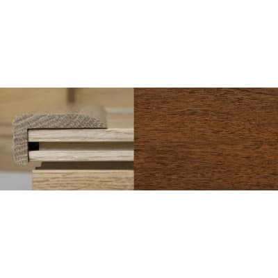 Light Walnut Stair Nose Profile Soild Hardwood 1m